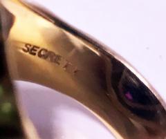 Burle Marx Style 18 Karat Amethyst Ring Secrett circa 1970 - 1457586