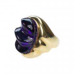 Burle Marx Style 18 Karat Amethyst Ring Secrett circa 1970 - 1458557