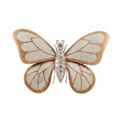 Butterfly Brooch in 18k Gold and Platinum with Diamonds - 126222