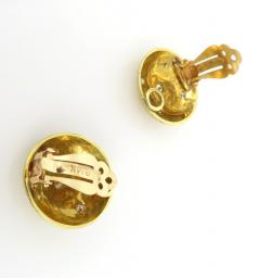 Button earrings with diamonds - 1164776