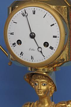 C 1810 French Figural Mantle Clock Signed Dubuc - 75634