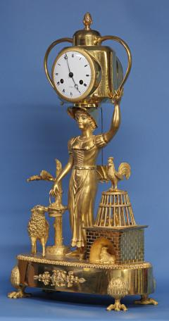 C 1810 French Figural Mantle Clock Signed Dubuc - 75637