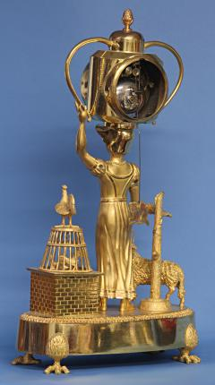 C 1810 French Figural Mantle Clock Signed Dubuc - 75638
