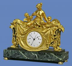 C 1812 Rare English Patinated Ormolu and Marble Mantle Clock - 75842