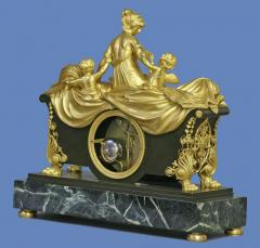 C 1812 Rare English Patinated Ormolu and Marble Mantle Clock - 75844