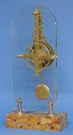 C 1850 Rare American Glass Plate Skeleton Clock - 226185