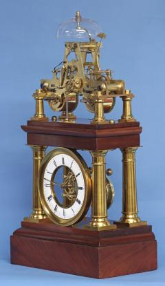 C 1880 Rare French Portico Clock with Turret Form Movement - 226189
