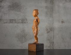 CARVED WOOD STANDING CHILD - 1018894
