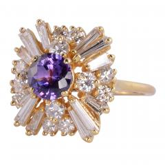 CGL Certified Natural Violet Sapphire Ring Size 8 5 - 2007459