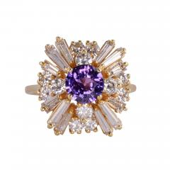 CGL Certified Natural Violet Sapphire Ring Size 8 5 - 2010351