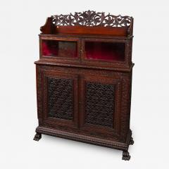 CH 24 Fine William IV Period Anglo Indian Rosewood Cabinet - 259795