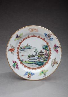 CHINESE EXPORT PORCELAIN PLATE FROM THE DEWITT CLINTON SERVICE - 1110009