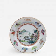 CHINESE EXPORT PORCELAIN PLATE FROM THE DEWITT CLINTON SERVICE - 1110119