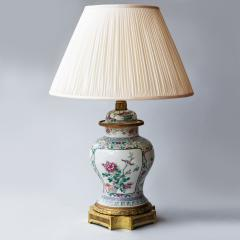 CHINESE FAMILLE ROSE PORCELAIN VASE CONVERTED TO A LAMP - 1267134