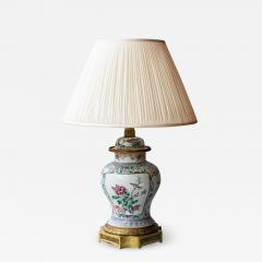 CHINESE FAMILLE ROSE PORCELAIN VASE CONVERTED TO A LAMP - 1267559