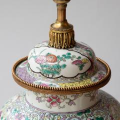 CHINESE FAMILLE ROSE PORCELAIN VASE CONVERTED TO A LAMP - 1269230