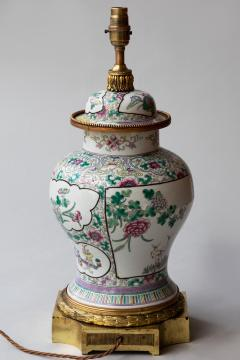 CHINESE FAMILLE ROSE PORCELAIN VASE CONVERTED TO A LAMP - 1269231