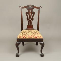 CHIPPENDALE CARVED SIDE CHAIR - 1908445