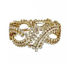 CIRCA 1980S 18K YELLOW GOLD 25 CARAT DIAMOND BRACELET - 2153821