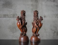 CONTINENTAL CARVED LIONS - 1018493