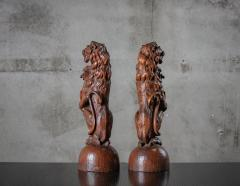 CONTINENTAL CARVED LIONS - 1018494