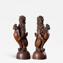 CONTINENTAL CARVED LIONS - 1019372