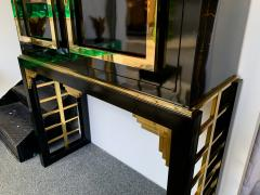 Cabinet Bar Lacquered with Brass and Mirror Italy 1970s - 1450900