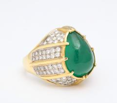 Cabouchon Emerald Ring - 1738617