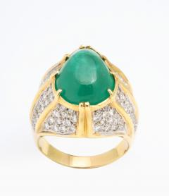 Cabouchon Emerald Ring - 1738618
