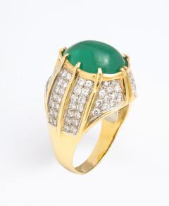 Cabouchon Emerald Ring - 1738619
