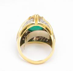 Cabouchon Emerald Ring - 1738620