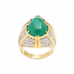 Cabouchon Emerald Ring - 1807423