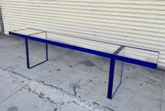 Cain Modern Custom Bench in Deep Blue and Clear Lucite by Cain Modern - 1276425