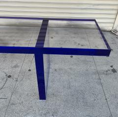 Cain Modern Custom Bench in Deep Blue and Clear Lucite by Cain Modern - 1276428