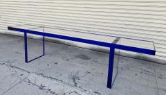 Cain Modern Custom Bench in Deep Blue and Clear Lucite by Cain Modern - 1276429