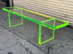 Cain Modern Custom Lime Green Lucite Bench by Cain Modern - 1276435