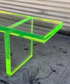 Cain Modern Custom Lime Green Lucite Bench by Cain Modern - 1276436