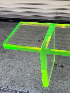 Cain Modern Custom Lime Green Lucite Bench by Cain Modern - 1276438