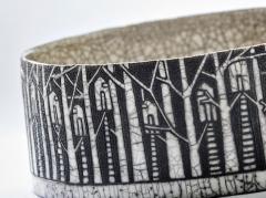 Camille Champignion Contemporary Black and White Ceramic Bowl Arbres Habit s - 1681607