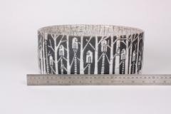 Camille Champignion Contemporary Black and White Ceramic Bowl Arbres Habit s - 1681612