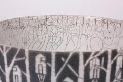 Camille Champignion Contemporary Black and White Ceramic Bowl Arbres Habit s - 1681614