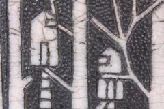 Camille Champignion Contemporary Black and White Ceramic Bowl Arbres Habit s - 1681618
