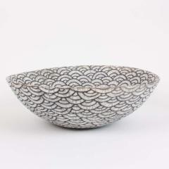 Camille Champignion Contemporary Black and White Ceramic Bowl Coupe Japonaise III - 1621894