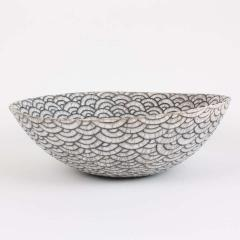 Camille Champignion Contemporary Black and White Ceramic Bowl Coupe Japonaise III - 1621895
