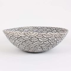 Camille Champignion Contemporary Black and White Ceramic Bowl Coupe Japonaise III - 1621896