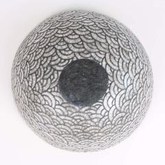 Camille Champignion Contemporary Black and White Ceramic Bowl Coupe Japonaise III - 1621899