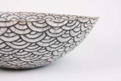 Camille Champignion Contemporary Black and White Ceramic Bowl Coupe Japonaise III - 1621900