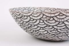 Camille Champignion Contemporary Black and White Ceramic Bowl Coupe Japonaise III - 1621901