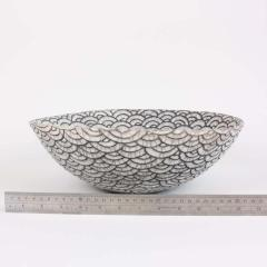 Camille Champignion Contemporary Black and White Ceramic Bowl Coupe Japonaise III - 1621904