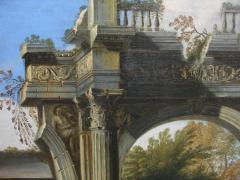 Capriccio of Mediterranean Port and Classical Architectural Ruins Oil on Canvas - 632627